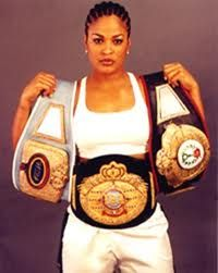 awesome Laila Ali, daughter of Muhammed Ali and professional boxer. Her boxing record includes 24 Wins by knockouts), 0 Losses. She was twice named Super Middleweight Champion. Read More by Muhammad Ali, Boxing Records, Twice Names, Black Is Beautiful, Beautiful Women, Kings & Queens, Female Boxers, Meagan Good, Float Like A Butterfly