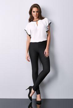 29875809a Delicadeza e fluidez traduzem o estilo da blusa com viés da linha Essence!   FatoBasico