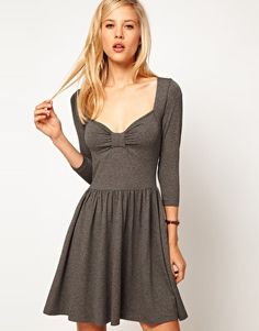 Enlarge ASOS Skater Dress With Sweetheart Neck