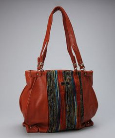 Take a look at this Brown Woven Adi Tote by Aryana on #zulily today!
