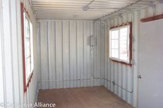 storage container modification - several images on this site - also make good construction materials storage or site office.