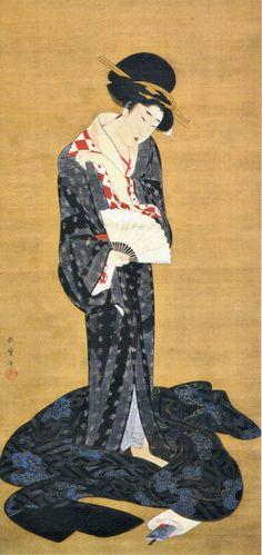 歌麿 Japanese Geisha, Japanese Art, Japanese Kimono, Kyoto Japan, Okinawa Japan, Tokyo Japan, Architecture Tattoo, Japanese Painting, Japanese Prints