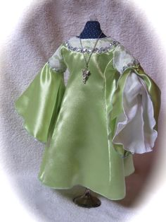 LOTR American Girl Doll  Arwen's Green Coronation Gown by RainbowLilyDesigns on Etsy - $48 Use coupon code PIN10 to get 10% off!