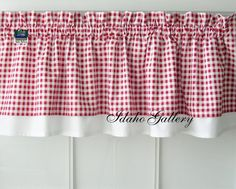 Curtain Red White Check Gingham Double Layered Kitchen Curtain Valance- ordered on Sunday, it arrived on Friday and is really cute and great quality.