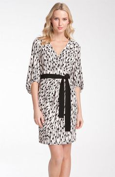 Donna Ricco Blouson Sleeve Faux Wrap Jersey Dress available at Nordstrom