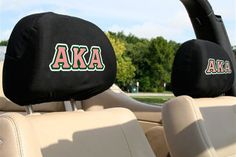 Alpha Kappa Alpha Sorority Auto SUV Head Rest Covers by WEGOTPULL on Etsy https://www.etsy.com/listing/258402115/alpha-kappa-alpha-sorority-auto-suv-head