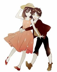 Aw, little Eren and Mikasa