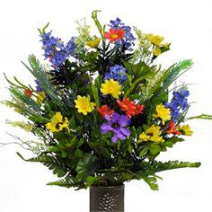 Wildflowers                                                           (Silk Cemetery Flowers)