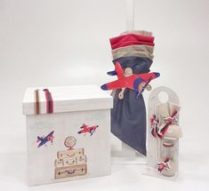 Ready to Fly Baby Baptism, Christening, Godchild, Some Ideas, Toy Chest, Christmas Ornaments, Holiday Decor, Children, Pilot