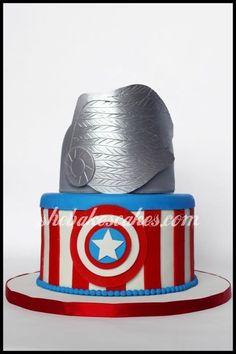 captain america and thor cake