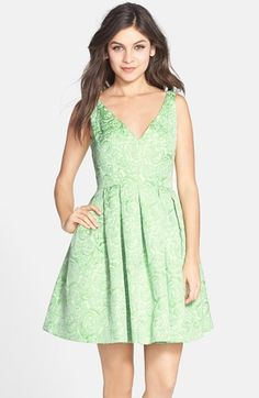 Betsey Johnson Floral Brocade Fit & Flare Dress available at #Nordstrom