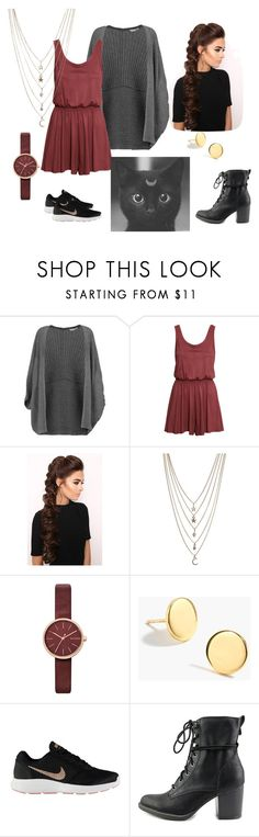 """""""Tea Date"""" by alanna-765 ❤ liked on Polyvore featuring Milly, H&M, LullaBellz, Ettika, Skagen, J.Crew, NIKE, American Rag Cie and date"""