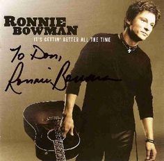Ronnie Bowman, this is also on my wish list. I heard he joined Grasstowne...would love to see them in concert.