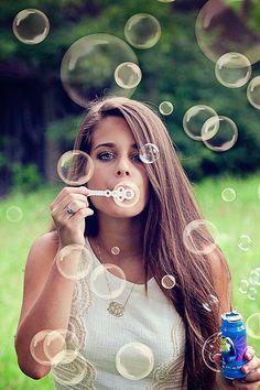 senior portrait - bubble overlay @Kendra Henseler Henseler Henseler Randt