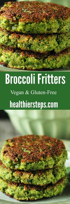 Broccoli Fritters Delicious broccoli fritters that are vegan and gluten-free