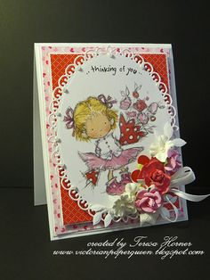 I have two quick cards to share today to inspire you all to make up something to give out for Valentines Day this friday. Valentine Crafts, Valentines Day, Valentine Ideas, Quick Cards, Lily Of The Valley, Crafty Projects, Christmas Themes, Cardmaking, Thinking Of You