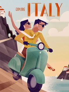 Voyage Vintage Poster - Italie - Retro - Wall Art - Wall Decor - Book Illustration Posters for Sale: Prints, Paintings & Wall Art . Retro Vintage, Photo Vintage, Vintage Italy, Vintage Glamour, Vintage Hawaii, Posters Decor, Art Deco Posters, Poster S, Poster Wall