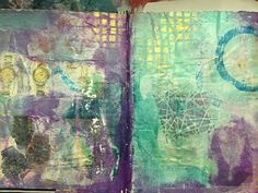 Another peek in my DIY #junkjournal and #artjournal played with some #stamping on tissue paper and Dina Wakely paint from The Hippie Art Studio  #artjournaling #mixedmedia #collage #workinprogress #wip #art #artist #gluebook #journal