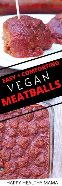 These Vegan Meatballs are the BEST! Great healthy vegan dinner or appetizer.