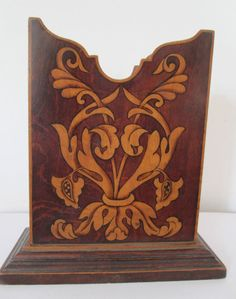 Antique Rosewood Letter Rack
