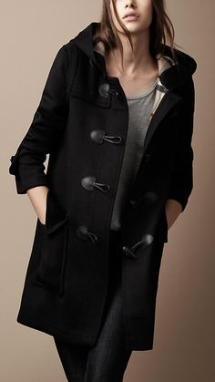 Burberry Check lined Duffle Coat-$895
