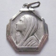 Virgin Mary Vintage in Prayer Silver Religious by CherishedSaints, $64.00