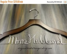 SALE 20% OFF Custom Bridal Hangers by OriginalBridalHanger on Etsy