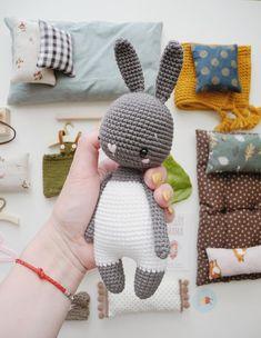 crochet pattern in english, amigurumi pattern Crochet Animal Patterns, Crochet Doll Pattern, Amigurumi Patterns, Amigurumi Doll, Crochet Animals, Crochet Dolls, Doll Patterns, Bunny Crochet, Crochet Mouse