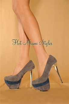 $44.99: Step into unique style with this sleek pumps. With intricate trim detail, this over-sized platform is sure to elevate any new-season look.