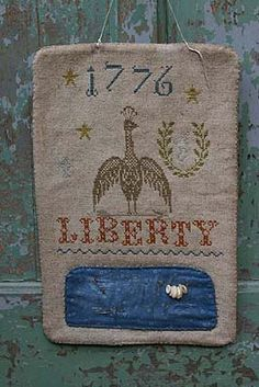 Stitching Bits and Bobs - LIBERTY 1776 HANGING PINKEEP - Stacy Nash Primitives
