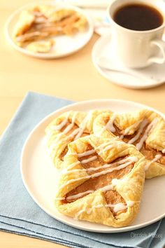 No need to make a bakery run when you can make these easy Apple Butter Cream Cheese Danishes at home in about an hour or so using frozen puff pastry. Serve them for breakfast, brunch, snack, and dessert.