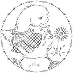 Pattern Detail | Happy Duckling with Flower | Needlecrafter
