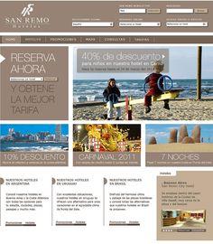 San Remo Candena Hotelera. Sitio Web Dinámico.