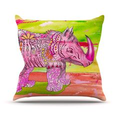 """Catherine Holcombe """"Pretty in Pink"""" Outdoor Throw Pillow"""