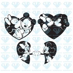 Silhouette Files, Silhouette Cameo, Xmas Crafts, Diy And Crafts, Little Mermaid Silhouette, Mickey Mouse Silhouette, Disneyland Trip, Cricut Vinyl, Collaboration