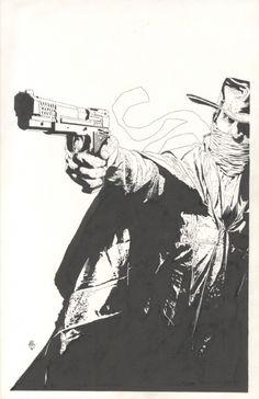 Splash Page Comic Art :: For Sale Artwork :: The Shadow by artist Tim Bradstreet