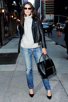 Katie Holmes #Celebrity Winter Street Style Fashion