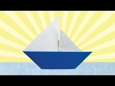 Origami Sailboat (Folding Instructions) ~Happy World Origami Days!~ - YouTube