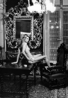 MV ♥ Charlotte Rampling by Helmut Newton, Hotel Nord Pinus II, Arles, 1973