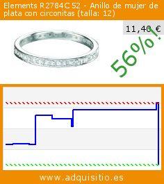 Elements R2784C 52 - Anillo de mujer de plata con circonitas (talla: 12) (Joyería). Baja 56%! Precio actual 11,40 €, el precio anterior fue de 26,11 €. http://www.adquisitio.es/elements/r2784c-52-anillo-mujer
