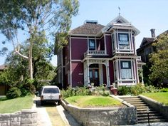 This beautiful red home is done in the Eastlake style and was built in 1887 for City Councilman Daniel Innes. This house might be one of the most familiar to contemporary viewers. It was used as the exterior (and some interiors) for Halliwell Manor, the house those witchy sisters lived in on the television show Charmed.
