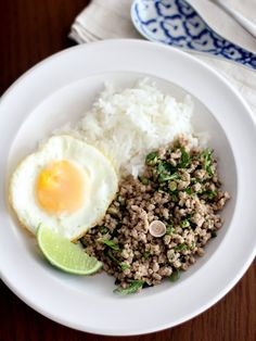 """Laab Moo {Thai Salad with Pork, Herbs and Lime}  One of my favorite """"salads"""".  Really nice in the summer."""