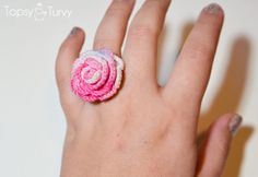 I have my grandmother's crochet thread, now I think I have something to make with it! Thread crochet ring rose pattern.