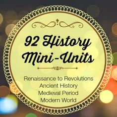 92 History Mini-Units Learning Through History Newsletter Archives Each newsletter features a historical mini-unit with resource links. Main subject a... - Jennifer Humble - Google+