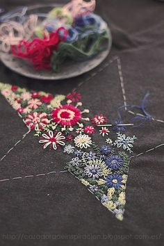 I LOVE to embroider, like this little star that will be used as an applique. This is beautiful, and would be fairly fast and easy. It's very peaceful.