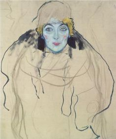 Retrato de senhora, 1917 #GustavKlimt