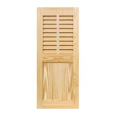 "Shutters By Design Louver Framed Flat Panel Combination Shutter with Faux Tilt Rod Size: 52"" H x 18"" W"
