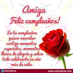 felicitaciones de cumpleaños amiga
