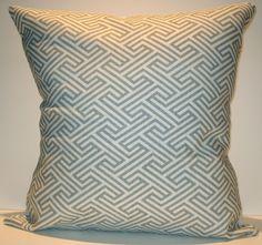 New 18x18 inch Designer Handmade Pillow Cases. Cool grey pattern on white.. $25.00, via Etsy.