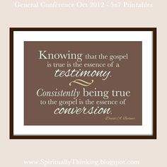 Free General Conference Printables - October 2012 - November Visiting Teaching & Home Teaching Ideas #ldsconf #bednar